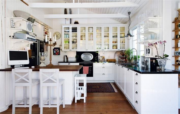 Home Sweet Home Kuchnia rustykalna biała -> Jasna Kuchnia Ikea