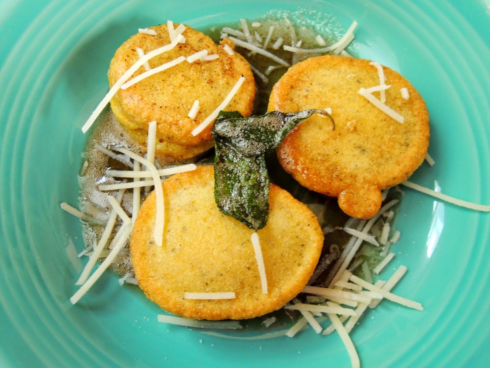 Fried semolina sage dumplings with brown butter and parmesan