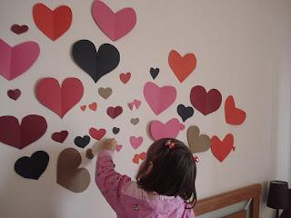 decoracion de pared para san valentin enamorados