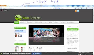 tag title seo gazadreams.blogspot.com