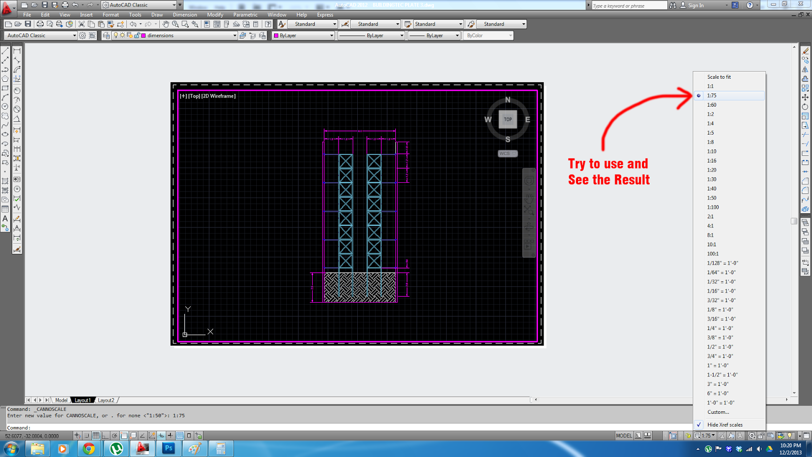 how to bring drawing in autocad after seeting up layout
