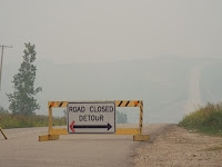 Smoke on Hwy 2 in Saskatchewan