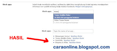 Cara blocked permintaan game, aplikasi, acara facebook2