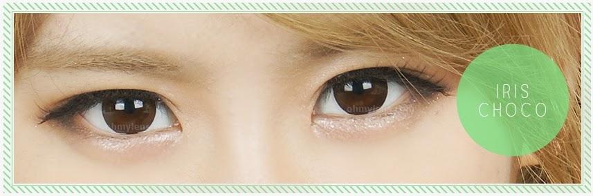 Iris Choco Contact Lenses at ohmylens.com