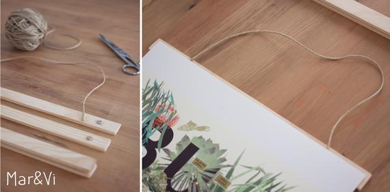 DIY: colgador para láminas paso a paso
