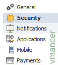 Facebook End Session - security option