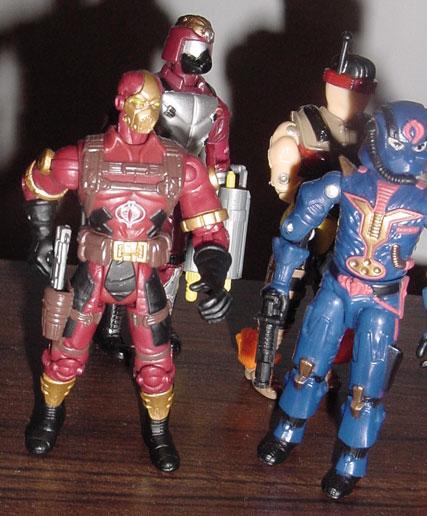 2002 Cobra Claws, Funskool Crimson Guard Immortal, 1997 Cobra Commander
