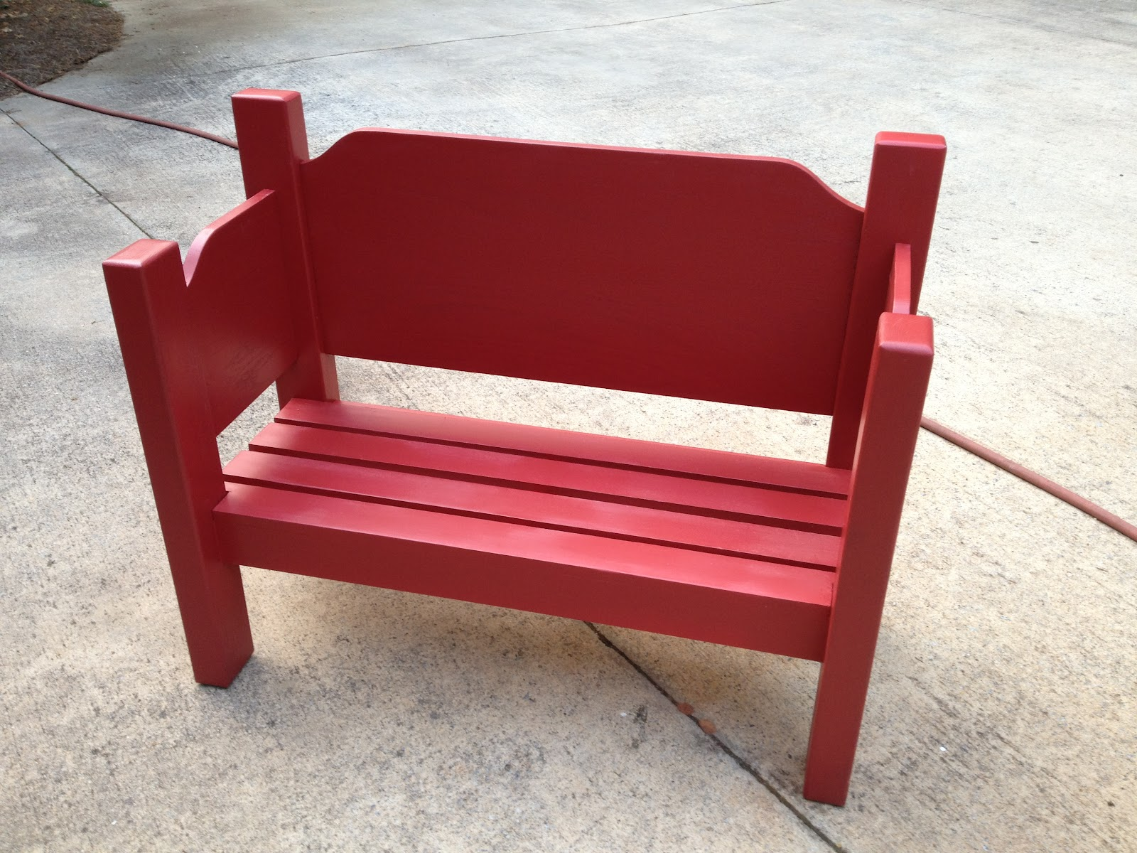 Sensible Redesign Childs Little Red Bench