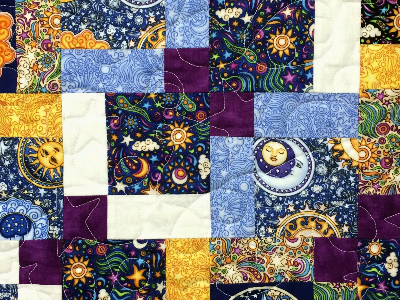 Leslie St. Onge Sun, Moon and Star Quilt