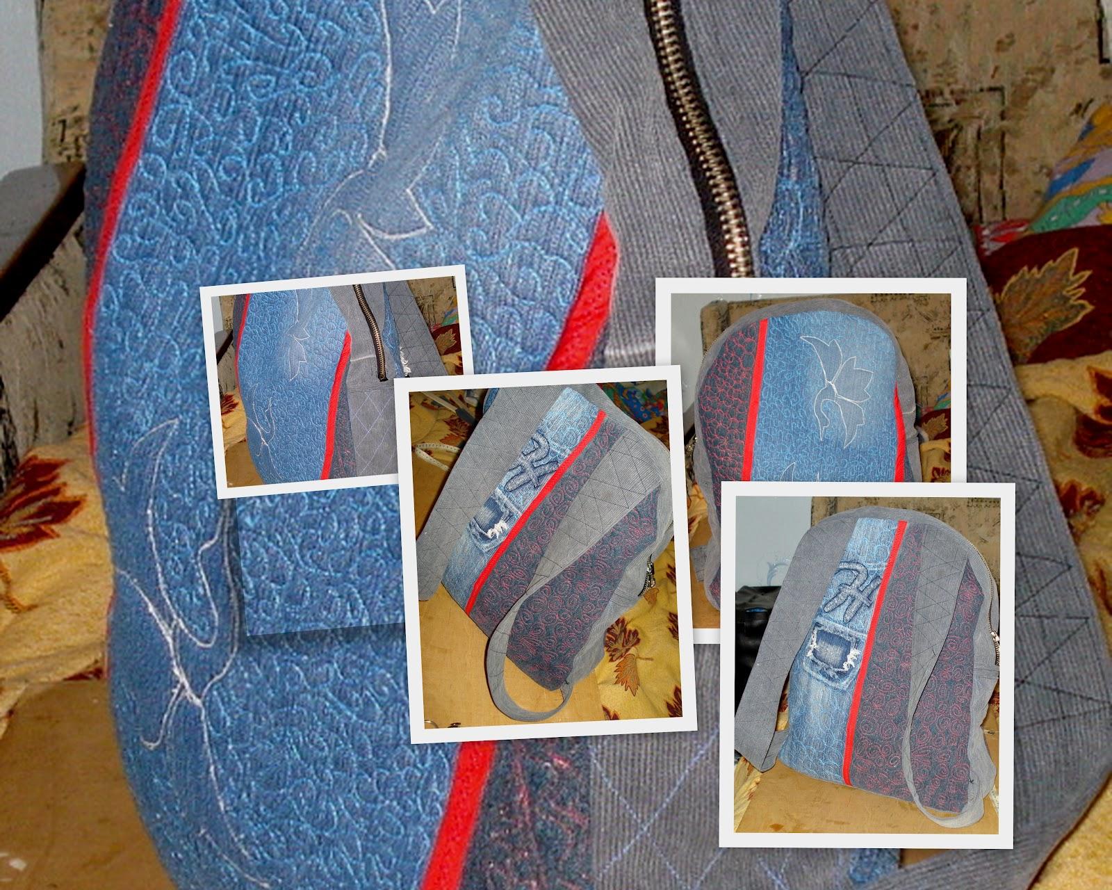 Сшить рюкзак из старых джинсов своими руками фото
