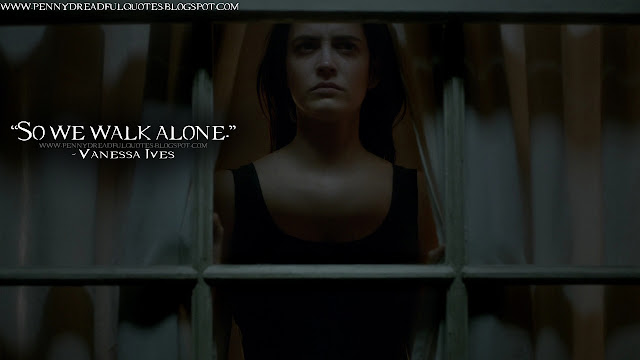 So we walk alone.