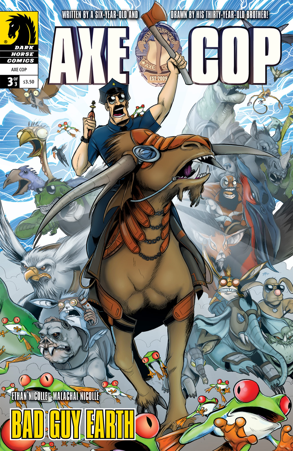 Read online Axe Cop: Bad Guy Earth comic -  Issue #3 - 1