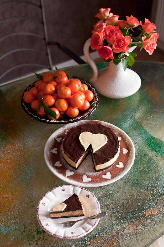 Presna pomarančna tortica / Raw orange cake Valentine