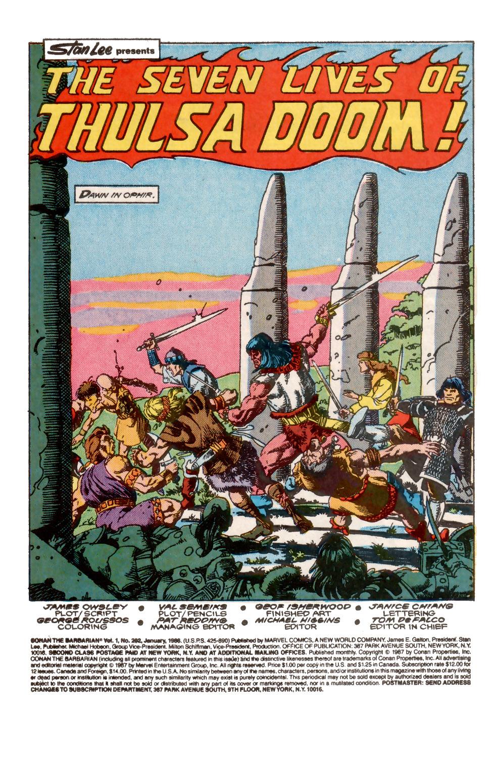 Conan the Barbarian (1970) Issue #202 #214 - English 2