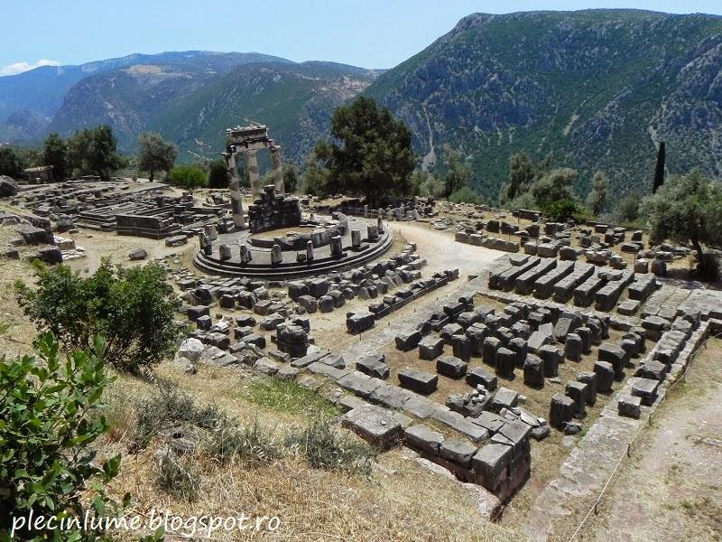 Pe muntele Parnassus din Grecia