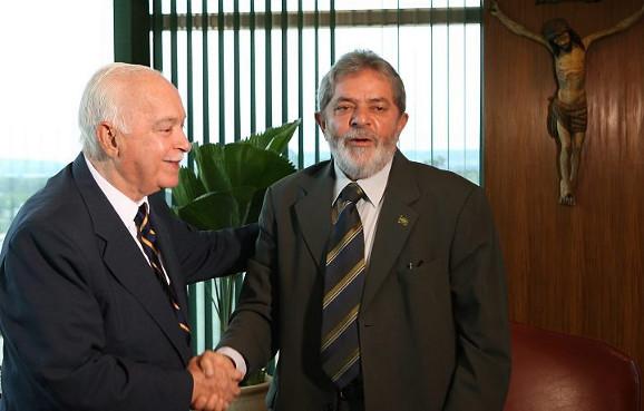 Lula, num dos seus momentos conciliatórios.