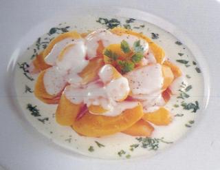 Zanahorias con crema chantillí