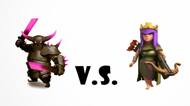 109090-P.E.K.K.A vs Archer Queen Clash of Clans HD Wallpaperz