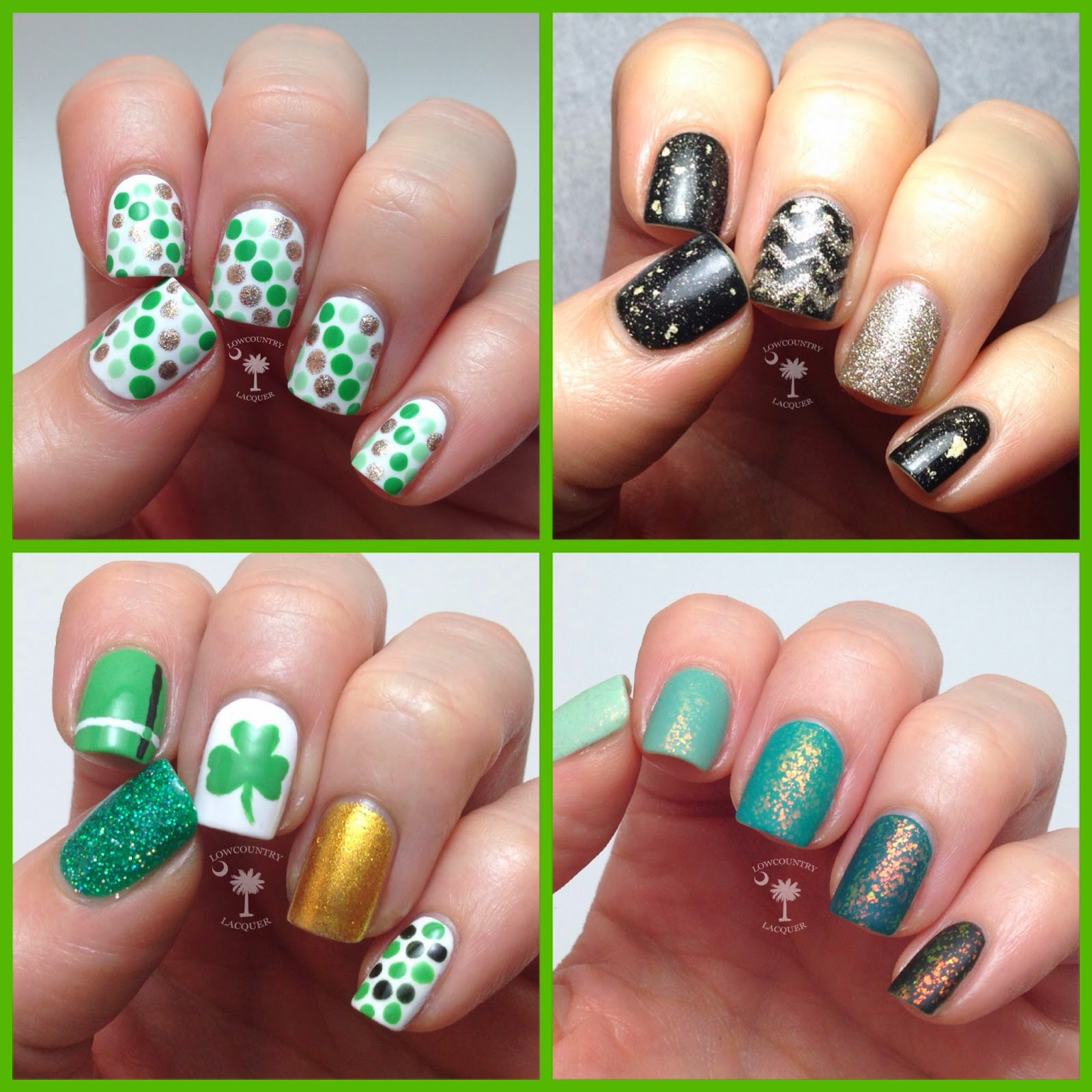 St. Patrick\'s Nail Art Round Up | Lowcountry Lacquer