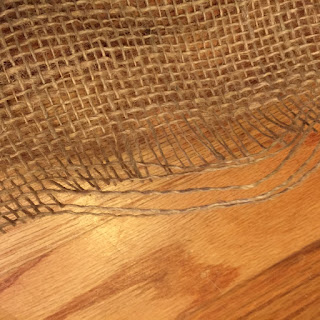 Pull thread from burlap