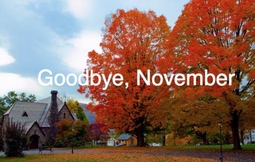 Goodbye November '12!