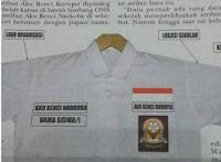 /emblem dengan tuliskan Aku Benci Korupsi dan Aku Benci Narkoba akan mulai digunakan siswa pada tahun ajaran 2015/2016.