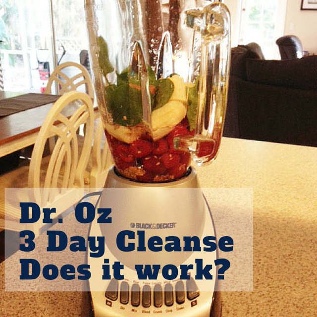 Dr. Oz. 3 Day Cleanse