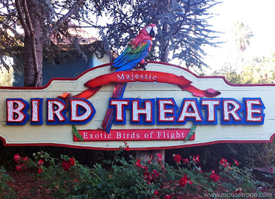 Bird Theatre theater sign Six Flags Discovery Kingdom