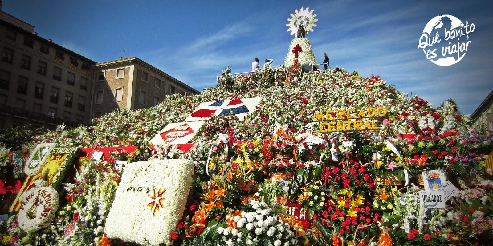 Ofrenda de Flores del Pilar en Zaragoza