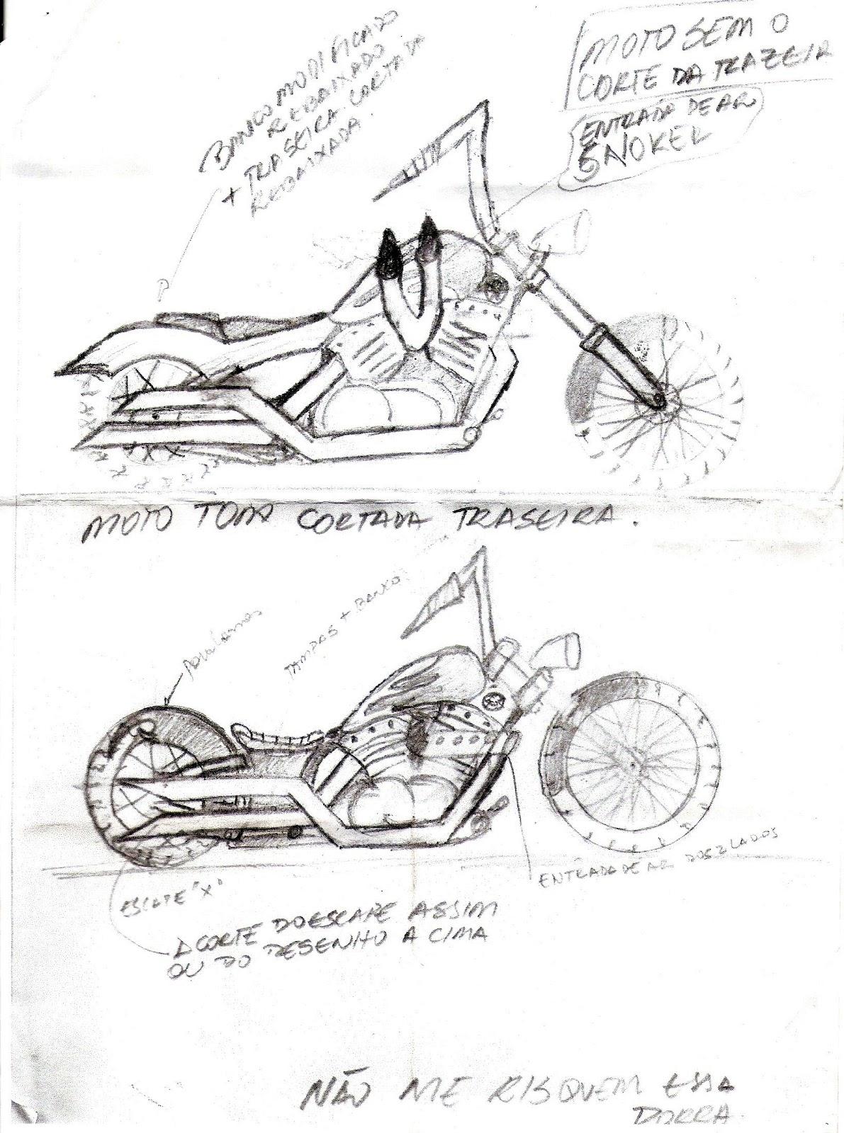 evolution motos  desenhos - projetos