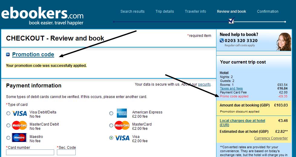 ebookers 10 discount code