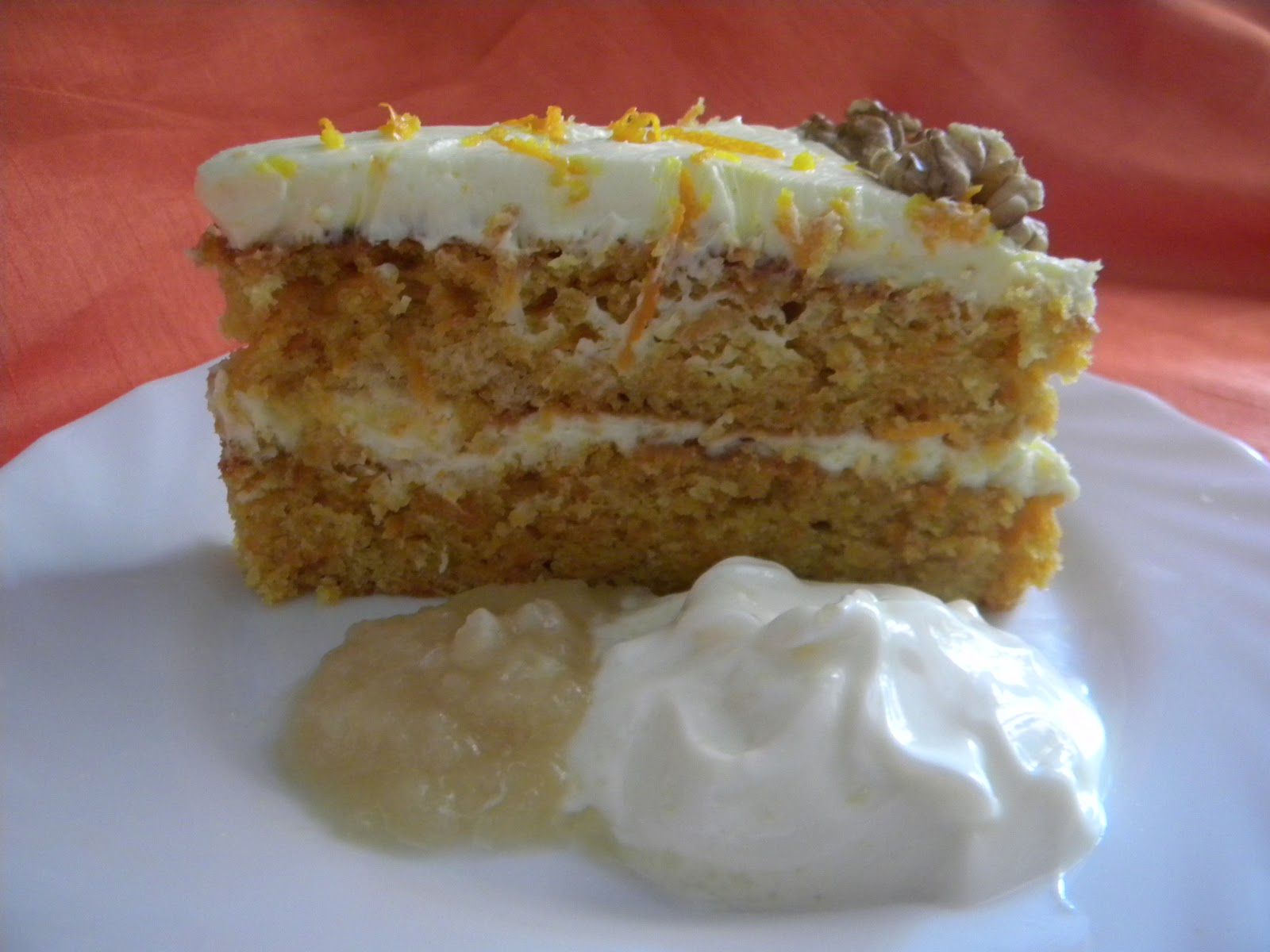 ... Rebecca Mugridge: Moist Carrot and Ginger cake with Orange Icing