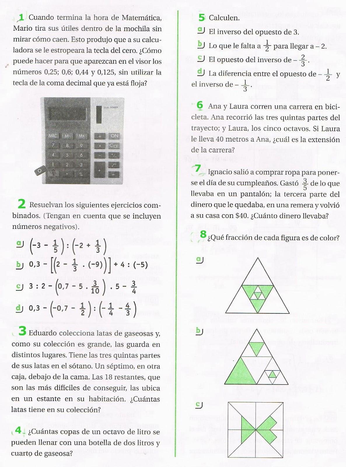 Te ayudo en matemáticas?: Fracciones: Ejercicios