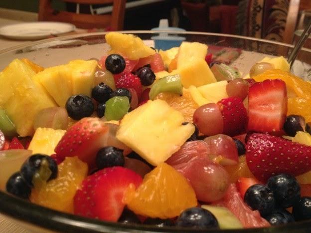 A Healthy fruit, Healthy Eating, fresh Fruit Salad sugar free,