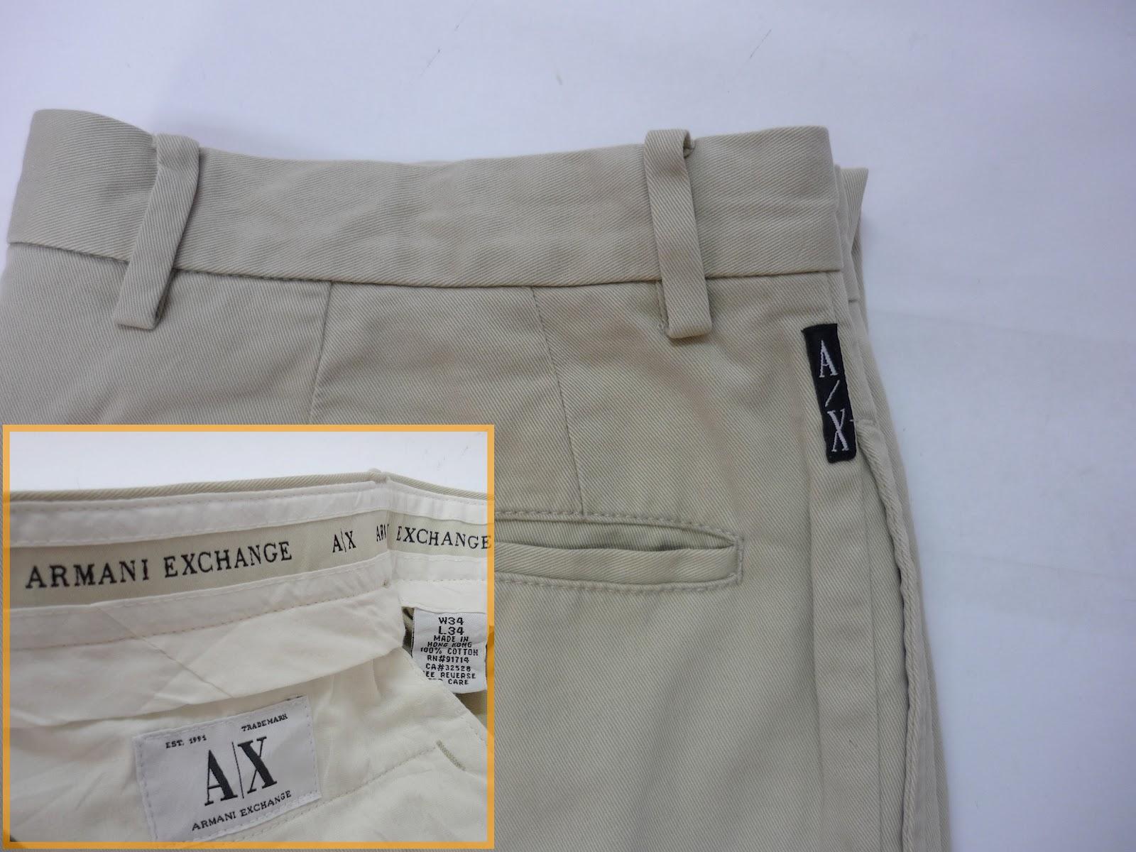 14a74510e77 RCHYbundle  armani exchange khakis pant (sold)
