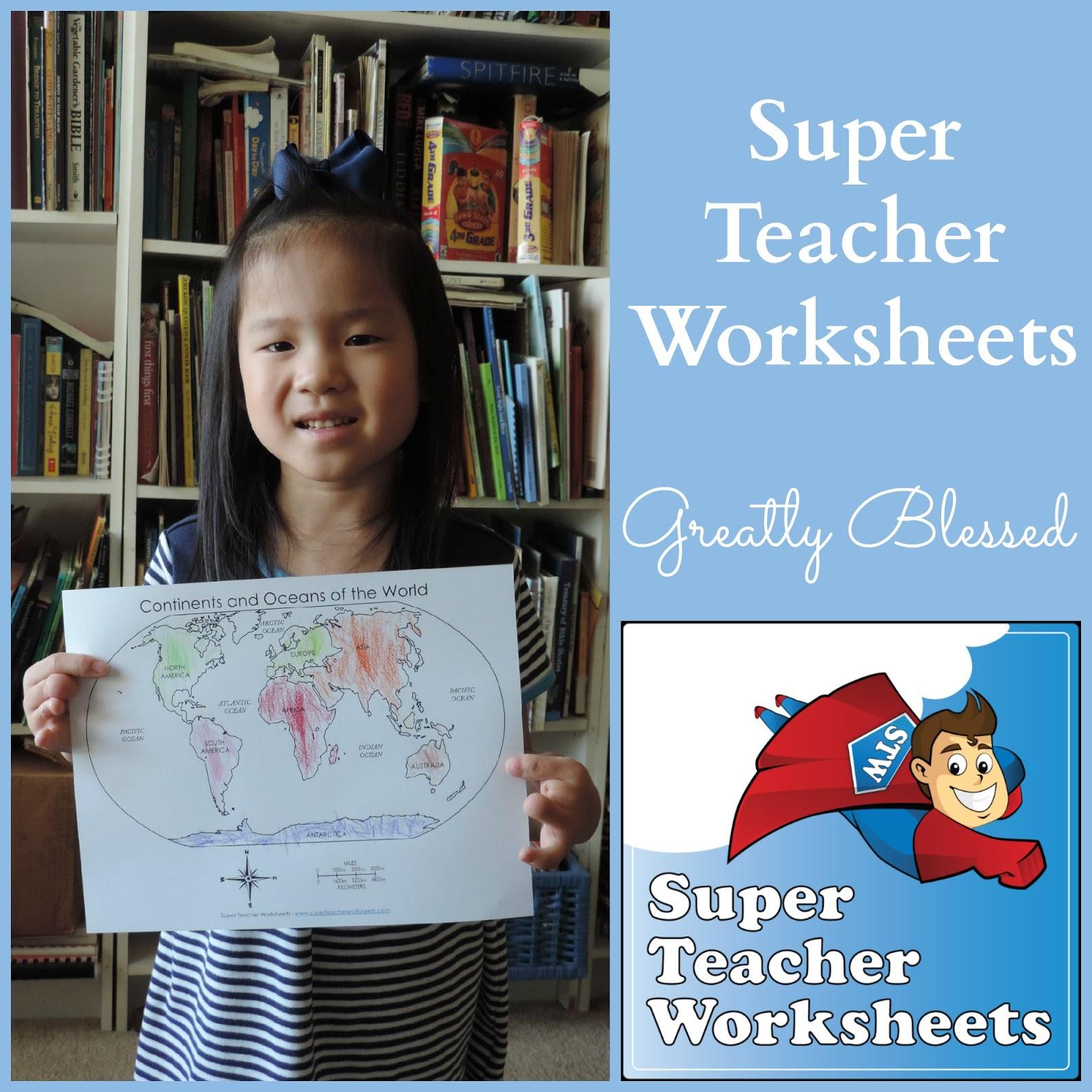 Greatly Blessed: Super Teacher Worksheets