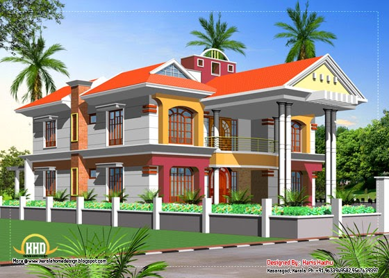 Double Storey Elevations : Double story house elevation kerala home design and