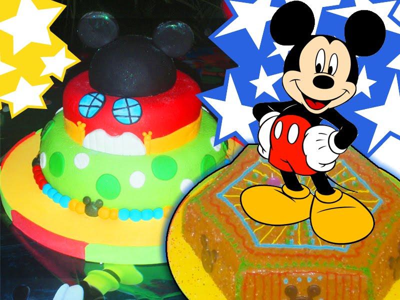 tortas decoradas con motivos de dibujos animados para ninos