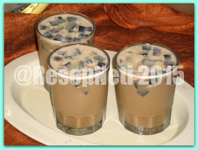 cappucino ice grass jelly recipe at kusNeti kitchen 2015