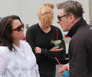 Rosie O'Donnell shows off baby Dakota to Alec Baldwin and daughter Ireland