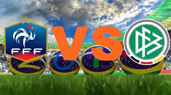 Prediksi Skor FIFA World Cup Terjitu Prancis vs Jerman jadwal 4 Juli 2014