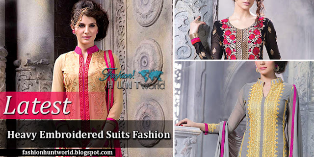 Latest Heavy Embroidered Suits Fashion