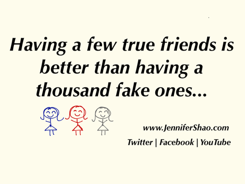 Inspirational Images and Quotes.: Having A Few True Friends Is