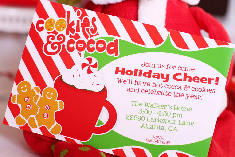 Forget the invitation this adorable c ookies and cocoa invitation