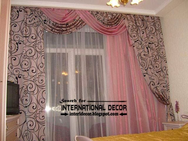 bedroom curtain designs. Stylish Drapes Curtain Design For Bedroom, Pink Curtains, Patterns Fabric Bedroom Designs I