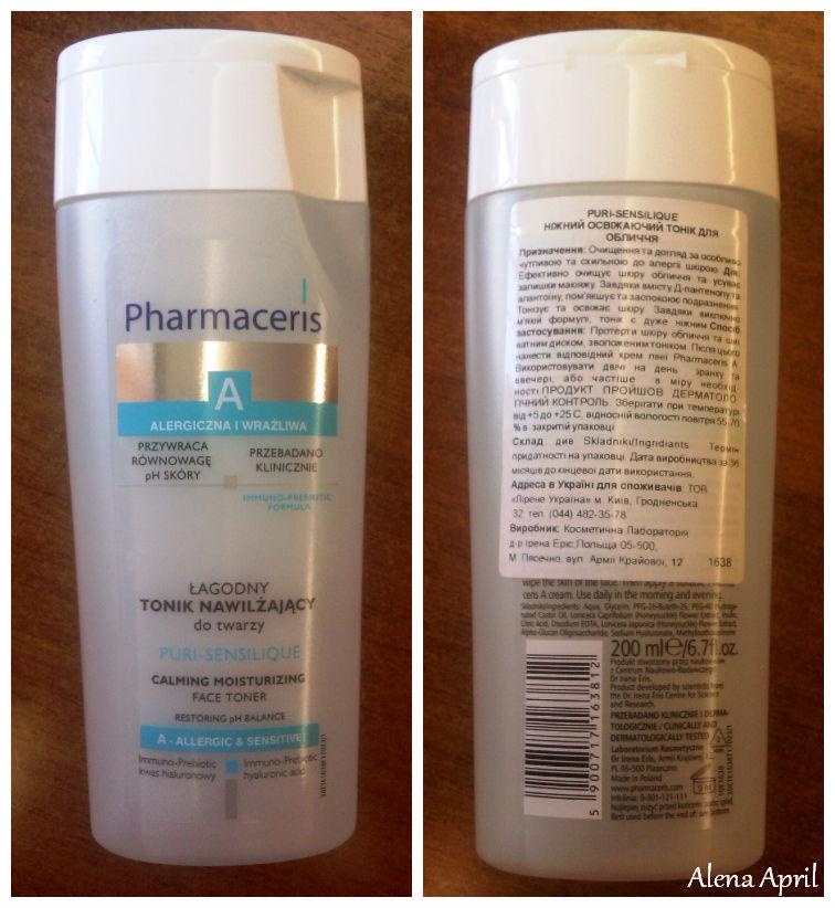 Pharmaceris A Puri-Sensilique Gentle Refreshing Toner, тоник для чувствительной кожи