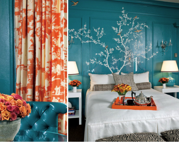 an american housewife blue and orange complimentary colors. Black Bedroom Furniture Sets. Home Design Ideas