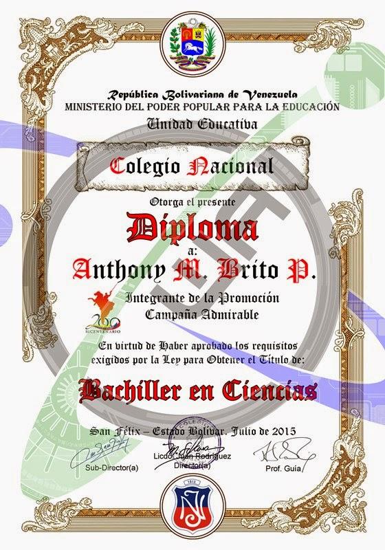 Descargar Plantillas De Diplomas 100% Editables Títulos ...
