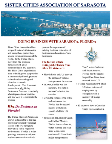 Click To Enlarge Economic Development Brochure