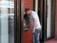 Mr D9 at the cashpoint!